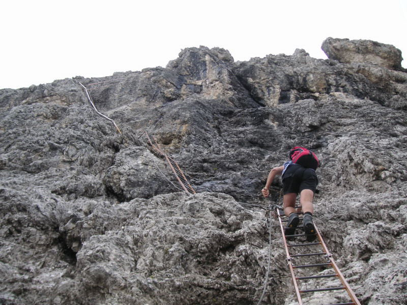 Foto 4 zur Tour: Via ferrata Merlone auf die Cadinspitze NE