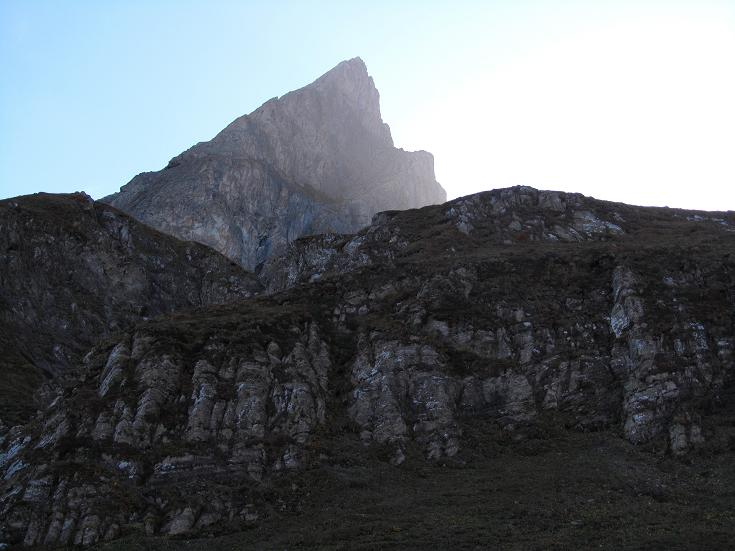Roggspitze (2747 m), Südwandpfeiler, Vorarlberg, III+
