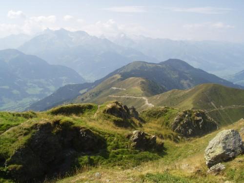 Foto: hofchri / Mountainbike Tour / Hundstein-Runde / Trail nach Thumersbach ist gut erkennbar. / 07.07.2009 19:35:31