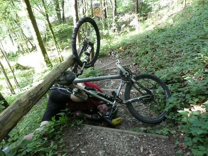 Foto: Lenswork.at / Ch. Streili / Mountainbiketour / Über die Salinenwege auf die Kaitlalm / Aufpassen sollte man bei der Abfahrt vom Thumsee nach Bad Reichenhall! / 30.05.2008 10:00:49