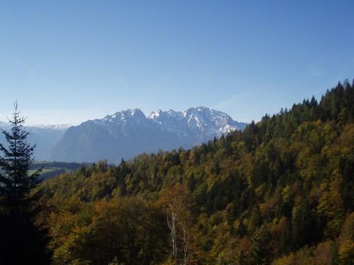 Foto: hofchri / Mountainbike Tour / Rund um den Schlenken / Aussicht bei der steilen Auffahrt auf die Bergalm / 07.07.2009 18:40:50