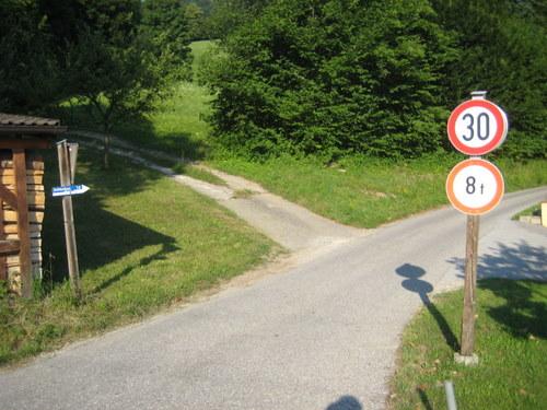 Foto: http / Mountainbiketour / Schlenken-Route (Lammertal.info) / Abzweigung Höllwengleiten / 22.07.2010 20:01:37