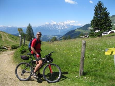 Foto: Eidenhammer Dietmar / Mountainbike Tour / Um den Schmittenstein / Blick ins Salzachtal / 04.03.2012 19:35:01