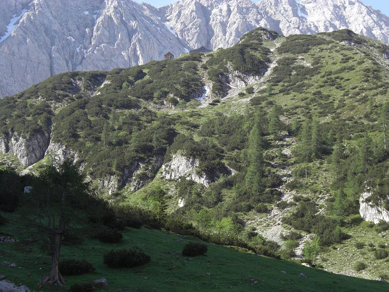 Foto: Charly Weigarten / Mountainbike Tour / Zum Seebensee / Blick vom Seebensee zur Coburgerhütte / 02.08.2009 17:18:32
