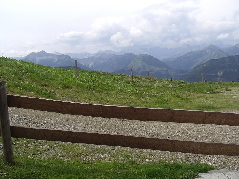 Foto: Charly Weigarten / Mountainbike Tour / Aus dem Achental rund um den Juifen / Ausblick von der Rotwandlalm / 02.08.2009 20:53:23