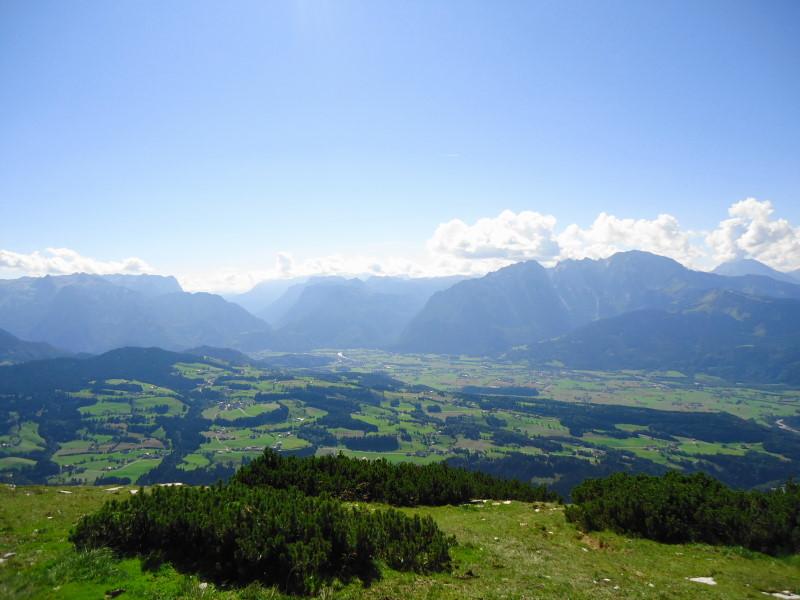 Foto: Günter Siegl / Wander Tour / Schlenken - Schmittenstein - Überschreitung / rechts Hoher Göll und Watzmann / 26.09.2014 19:28:39