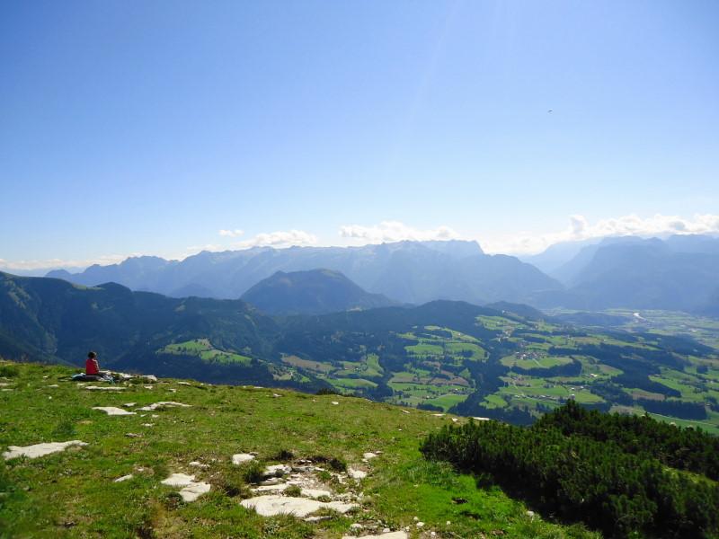 Foto: Günter Siegl / Wander Tour / Schlenken - Schmittenstein - Überschreitung / Blick zu Schwarzer Berg und Tennengebirge / 26.09.2014 19:28:19