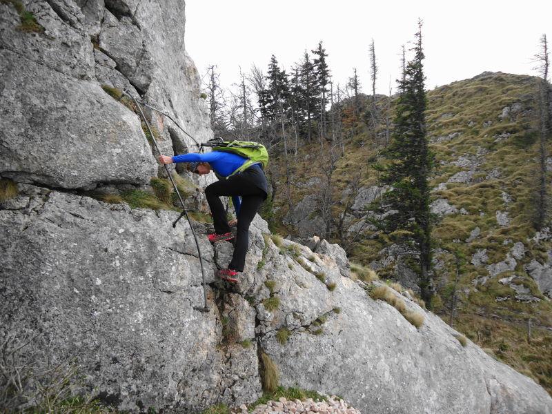 Foto: Günter Siegl / Wander Tour / Auf den Steinern Jäger und Schieferstein / Schlüsselstelle! / 20.04.2014 12:03:53