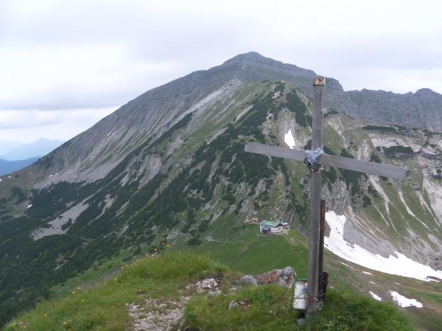 Foto: Wolfgang Lauschensky / Wander Tour / Aus dem Rißbachtal auf den Schafreuter (Scharfreiter) / Scharfreiteranstieg über die Tölzer Hütte vom Delpsjoch gesehen / 24.06.2012 20:25:05