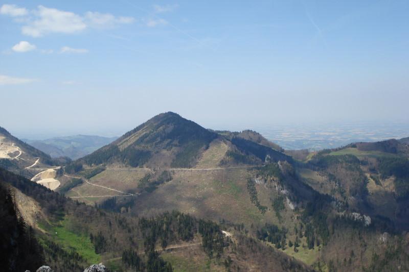 Foto: Günter Siegl / Wander Tour / Über die Grünburger Hütte auf den Hochbuchberg / Hochbuchberg (Aufnahme vom Schoberstein) / 18.04.2011 10:04:53