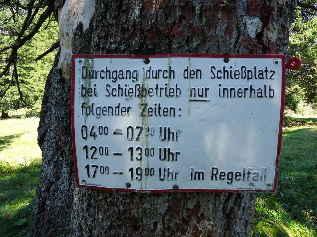 Foto: Günter Siegl / Wander Tour / Über die Feichtau auf den Hohen Nock / Info bei Schießbetrieb! Bei Sprengarbeiten gibt es einen Shuttledienst! / 17.09.2012 21:07:38