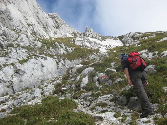 Foto: Wolfgang Lauschensky / Wander Tour / Normalweg auf den Gimpel / entlang der Kletterfelsen / 19.11.2011 17:50:27