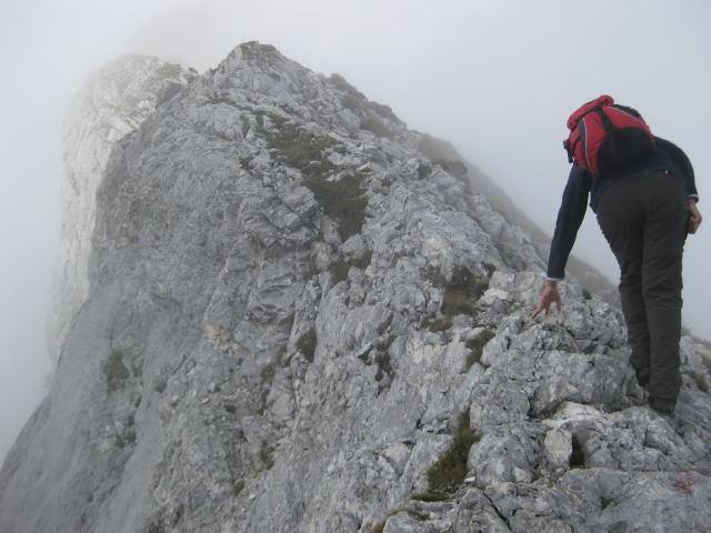 Foto: Wolfgang Lauschensky / Wander Tour / Normalweg auf den Gimpel / Ostgrat / 19.11.2011 17:50:01
