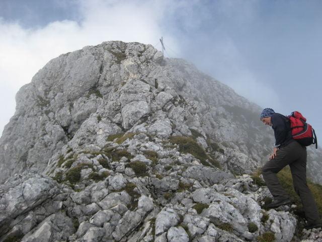 Foto: Wolfgang Lauschensky / Wander Tour / Normalweg auf den Gimpel / Gimpel - Gipfel / 19.11.2011 17:49:52