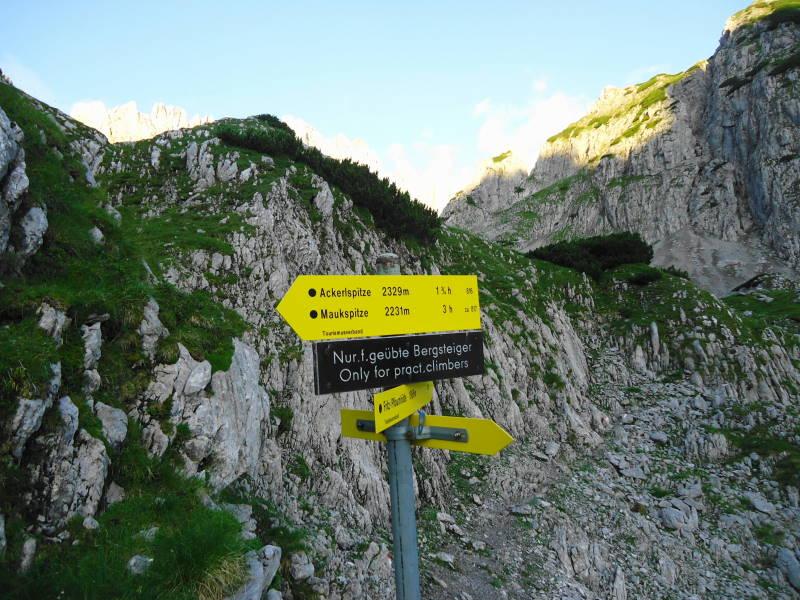 Foto: Günter Siegl / Wander Tour / Von Norden auf die Ackerlspitze / Die Warnung ist ernst zu nehmen - es handelt sich nicht um eine mittelschwere Bergwanderung wie hier angegeben. / 10.08.2016 20:18:17