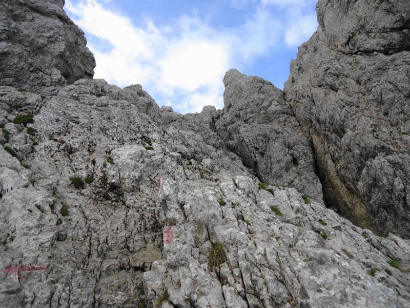 Foto: Günter Siegl / Wander Tour / Von Norden auf die Ackerlspitze / Klettergelände im I-II Schwierigkeitsgrad, keine Sicherungen! / 10.08.2016 20:06:10