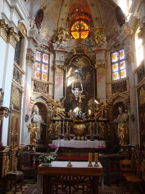 Foto: Wolfgang Dröthandl / Wander Tour / Vogelberg-Schloßberg - Runde / Stiftskirche Dürnstein / 08.05.2017 09:34:09
