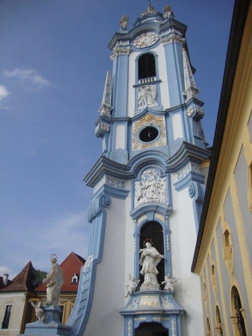 Foto: Wolfgang Dröthandl / Wander Tour / Vogelberg-Schloßberg - Runde / Turm der Stiftskirche von der Altane / 08.05.2017 09:33:54