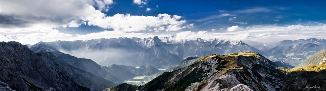 Foto: saljur / Wander Tour / Schrocken N-Grat / Ausblick beim Abstieg, ca. 20 Min. unterhalb des Gipfels ): Priel, Spitzmauer, ..) / 25.06.2014 12:25:42