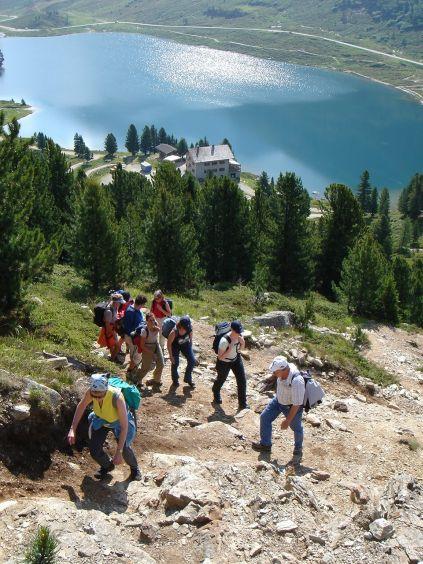 Foto: Manfred Karl / Wandertour / Almerhornrunde / Die Steilstufe gleich zu Beginn des Anstieges / 03.06.2008 16:24:14
