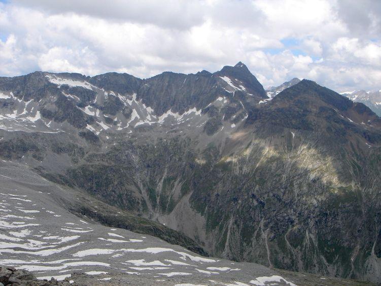 Foto: Manfred Karl / Wandertour / Almerhornrunde / Blick über das Patscher Tal zur Lenkspitze / 03.06.2008 16:20:36
