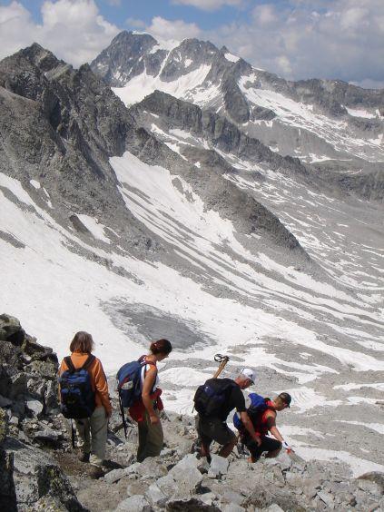 Foto: Manfred Karl / Wandertour / Almerhornrunde / Abstieg vom Gipfel / 03.06.2008 16:17:56