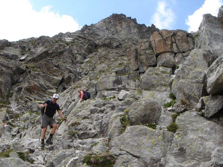 Foto: Manfred Karl / Wandertour / Almerhornrunde / Abstieg von der Jägerscharte / 03.06.2008 16:15:56
