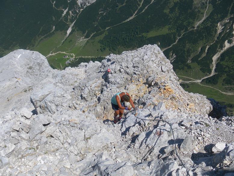 Foto: Wolfgang Lauschensky / Wandertour / Durch das Hinterautal zur Speckkarspitze / Tiefblick zur Hallerangeralm / 02.07.2017 13:41:01