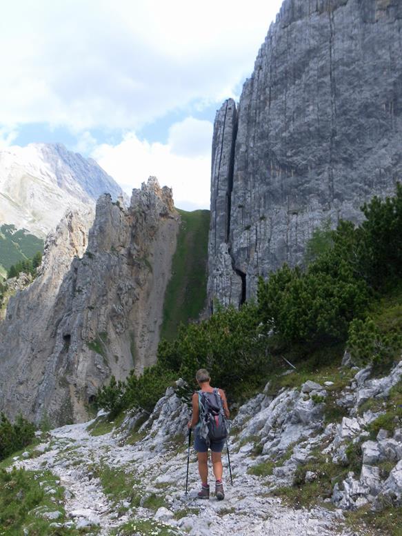 Foto: Wolfgang Lauschensky / Wander Tour / Durch das Hinterautal zur Speckkarspitze / Kletterfelsen im Abstieg / 02.07.2017 13:40:49