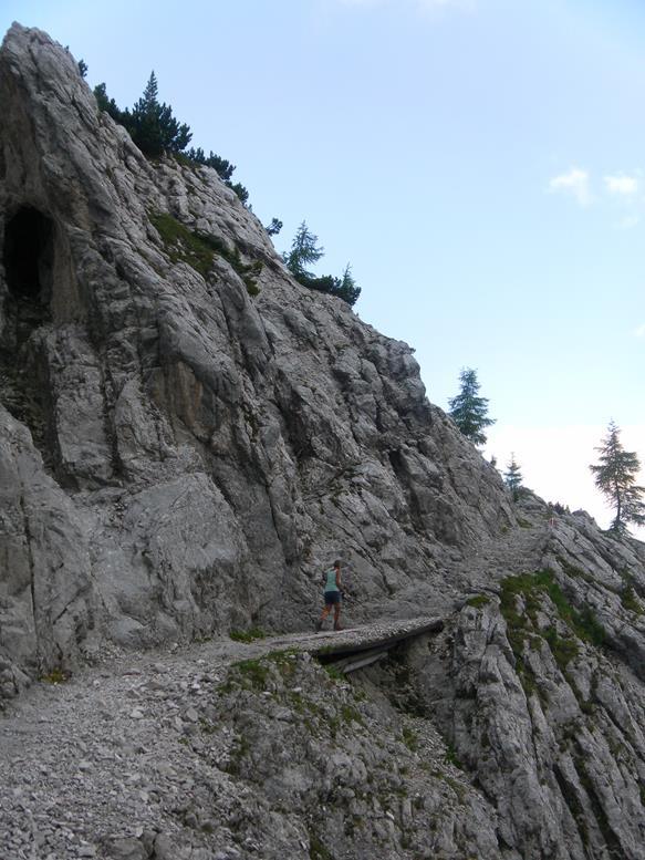 Foto: Wolfgang Lauschensky / Wander Tour / Durch das Hinterautal zur Speckkarspitze / Querung über dem Klettergarten / 02.07.2017 13:42:17