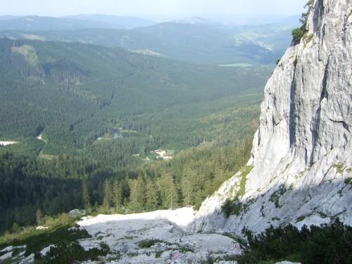 Foto: hofchri / Wander Tour / Brunnkogel-Rundtour über Schafluckensteig / steiler Abstieg zur Taferlklause / 30.09.2009 20:17:26