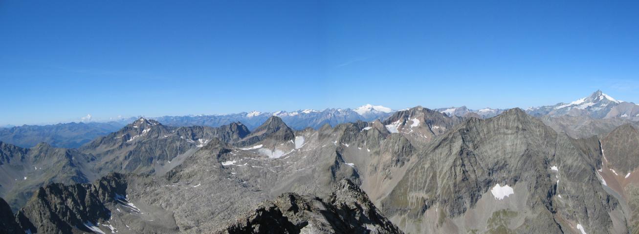 Foto: pepi4813 / Wander Tour / Von der Wangenitzseehütte auf das Petzeck / Panorama Petzeck Nord / 13.08.2009 10:07:13