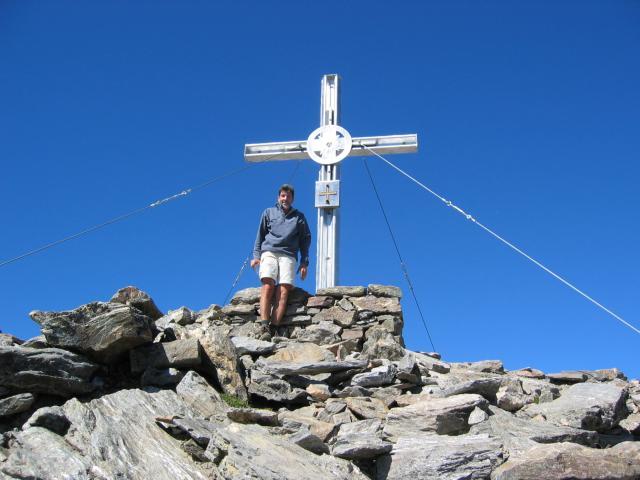 Foto: pepi4813 / Wander Tour / Von der Wangenitzseehütte auf das Petzeck / Gipfelkreuz Petzeck / 13.08.2009 10:09:13