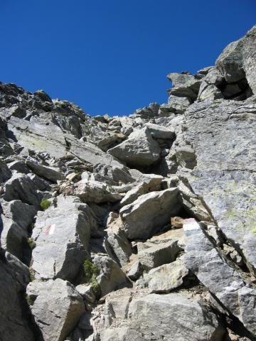 Foto: pepi4813 / Wander Tour / Von der Wangenitzseehütte auf das Petzeck / Abstieg durchs Couloir / 13.08.2009 10:08:24
