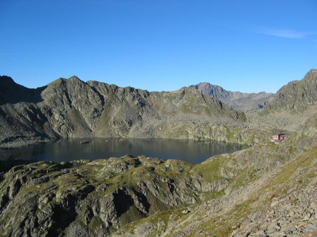 Foto: pepi4813 / Wander Tour / Von der Wangenitzseehütte auf das Petzeck / Blick zum Wangenitzsee / 13.08.2009 09:59:23