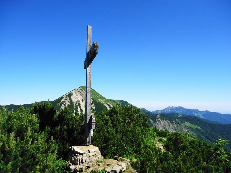 Foto: Günter Siegl / Wander Tour / Vom Walchsee auf den Breitenstein / Gipfel Breitenstein / 15.07.2016 21:44:54