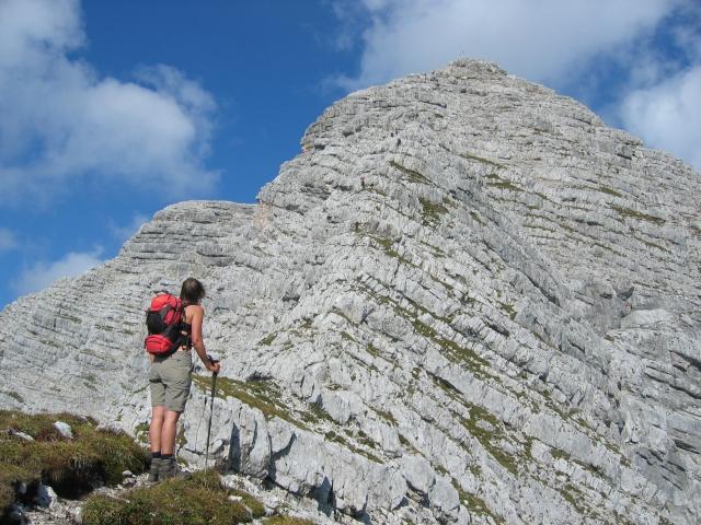 Foto: pepi4813 / Wandertour / Warscheneck über den SO-Grat / Hier gehts über den Klettersteig zum Gipfel! / 25.09.2009 20:45:48