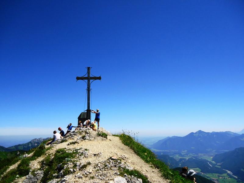 Foto: Günter Siegl / Wandertour / Von Ettenhausen auf den Geigelstein / Gipfel Geigelstein / 15.07.2016 21:59:15