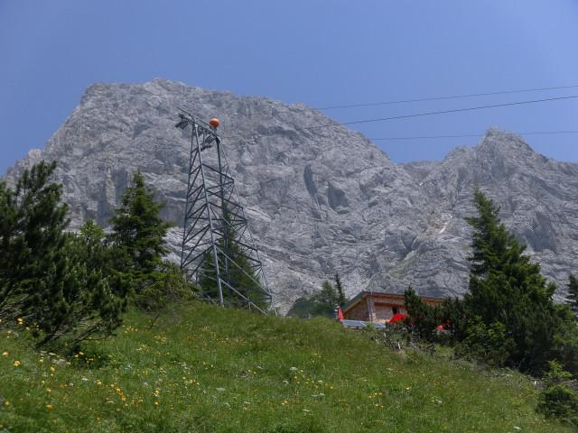Foto: Wolfgang Lauschensky / Wander Tour / Über den Wenger Weg auf den Großen Buchstein / Buchstein Südwand über dem Buchsteinhaus / 03.07.2012 21:13:50