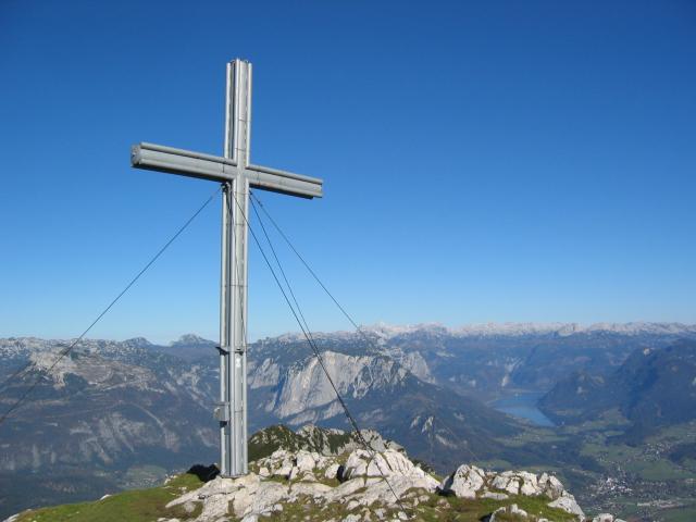 Foto: pepi4813 / Wandertour / Sarstein - Nord-Süd-Überschreitung / Gipfelkreuz Sarstein / 13.07.2009 10:13:38