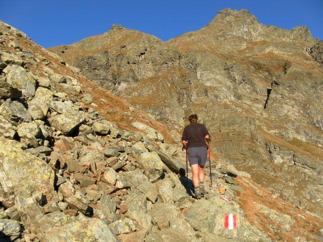 Foto: Wolfgang Lauschensky / Wander Tour / Hochgolling - über den NW-Grat / vor der Gollingscharte / 08.10.2011 16:22:59