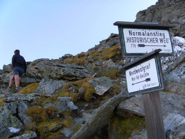 Foto: Wolfgang Lauschensky / Wander Tour / Hochgolling - über den NW-Grat / Wegegabelung / 08.10.2011 16:22:35