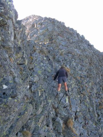 Foto: Wolfgang Lauschensky / Wander Tour / Hochgolling - über den NW-Grat / Ausweichen in die SW-Flanke / 08.10.2011 16:21:51