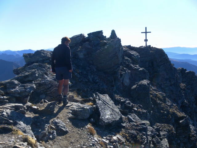Foto: Wolfgang Lauschensky / Wander Tour / Hochgolling - über den NW-Grat / Gipfeldach / 08.10.2011 16:20:45