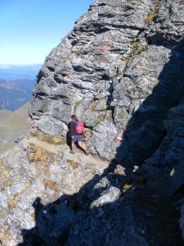 Foto: Wolfgang Lauschensky / Wander Tour / Hochgolling - über den NW-Grat / Abstieg am Historischen Weg / 08.10.2011 16:20:29