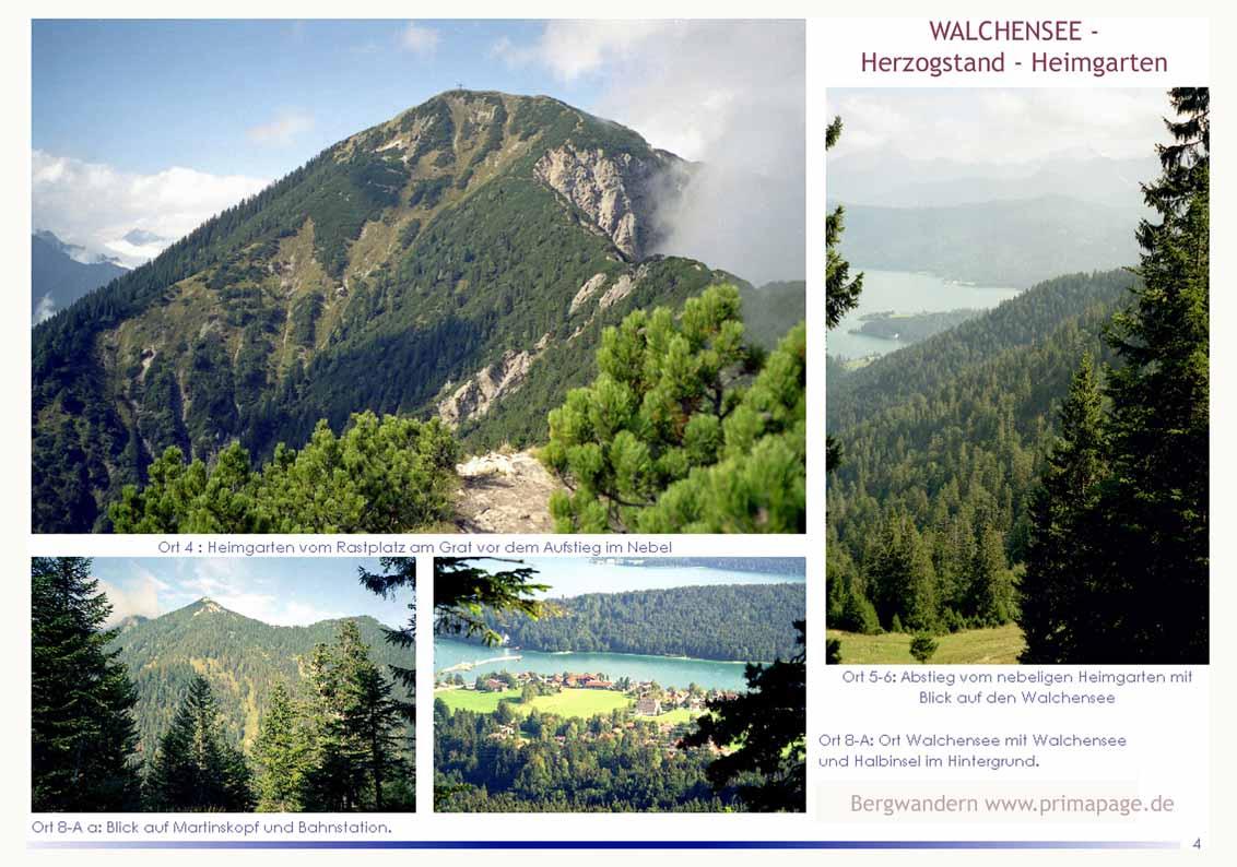 Foto: primapage / Wander Tour / Vom Walchensee zum Herzogstand / Vom Grat Blick auf den Heimgarten und Aussichten beim Rückweg über Holzkopf.  / 07.06.2009 10:54:00