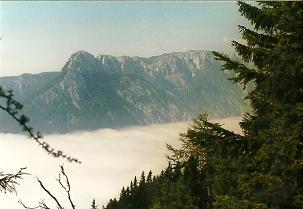 Foto: Wolfgang Dröthandl / Wander Tour / Hohe Weichsel - Runde / Aufstieg vom Seeberg über Seeleiten - Blick auf Feistringstein, Gschirrmauer (Seetal im Nebel) / 31.01.2011 12:20:36
