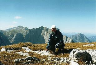 Foto: Wolfgang Dröthandl / Wander Tour / Hohe Weichsel - Runde / Blick vom Gipfel nach Westen: Hochschwabgipfel, Ringkamp, Riegerin / 31.01.2011 12:17:15