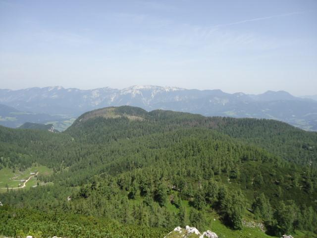 Foto: Günter Siegl / Wander Tour / Vom Gleinkersee auf den Seespitz / Rückblick Seespitz am Ende des Plateaus / 28.07.2012 21:08:37