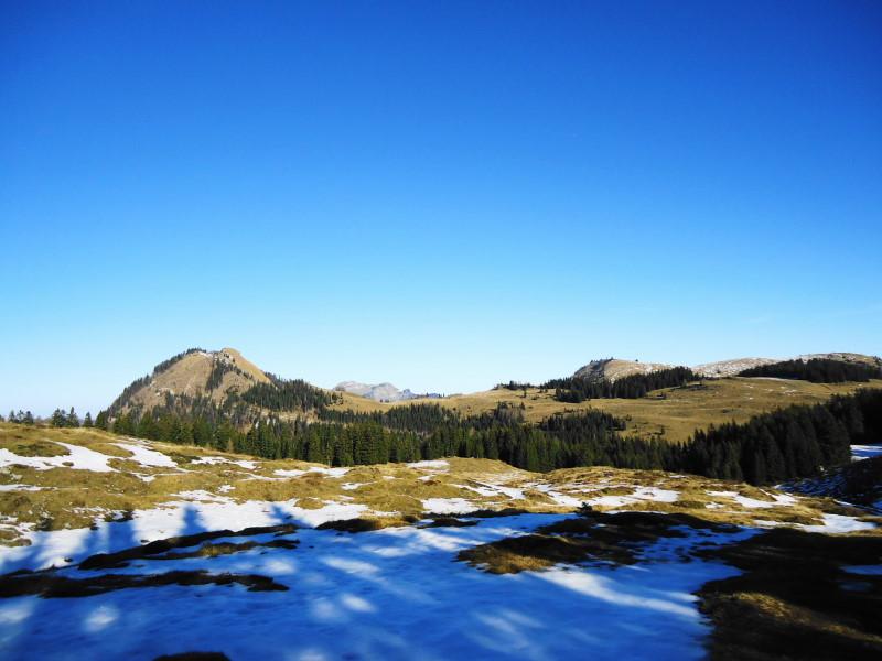 Foto: Günter Siegl / Wander Tour / Von der Postalm auf das Wiesler Horn, 1603m / Links Wieslerhorn / 28.12.2015 19:58:44